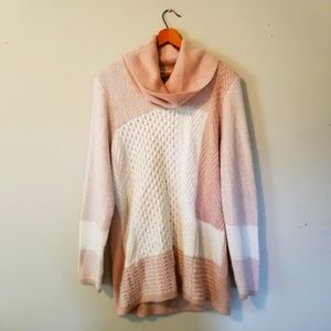 NWT Calvin Klein Oversized Colour Block Textured Knit Long Sweater
